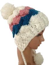 Бесплатная доставка симпатичные зима теплая шерсть шляпа чисто ручной мода женщин шапочки лыж открытый cap111 #