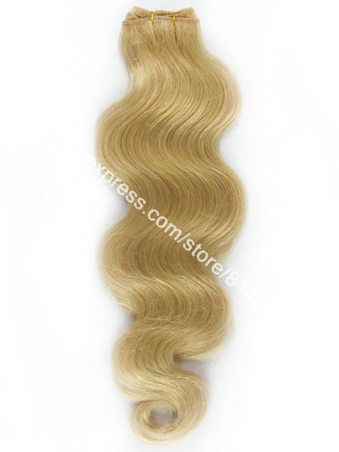 #24 Natural Blonde Body Wave 100% Indian Remy Hair Machine Weft High Quality Weave Virgin Human Hair Extension 3pcs/lot