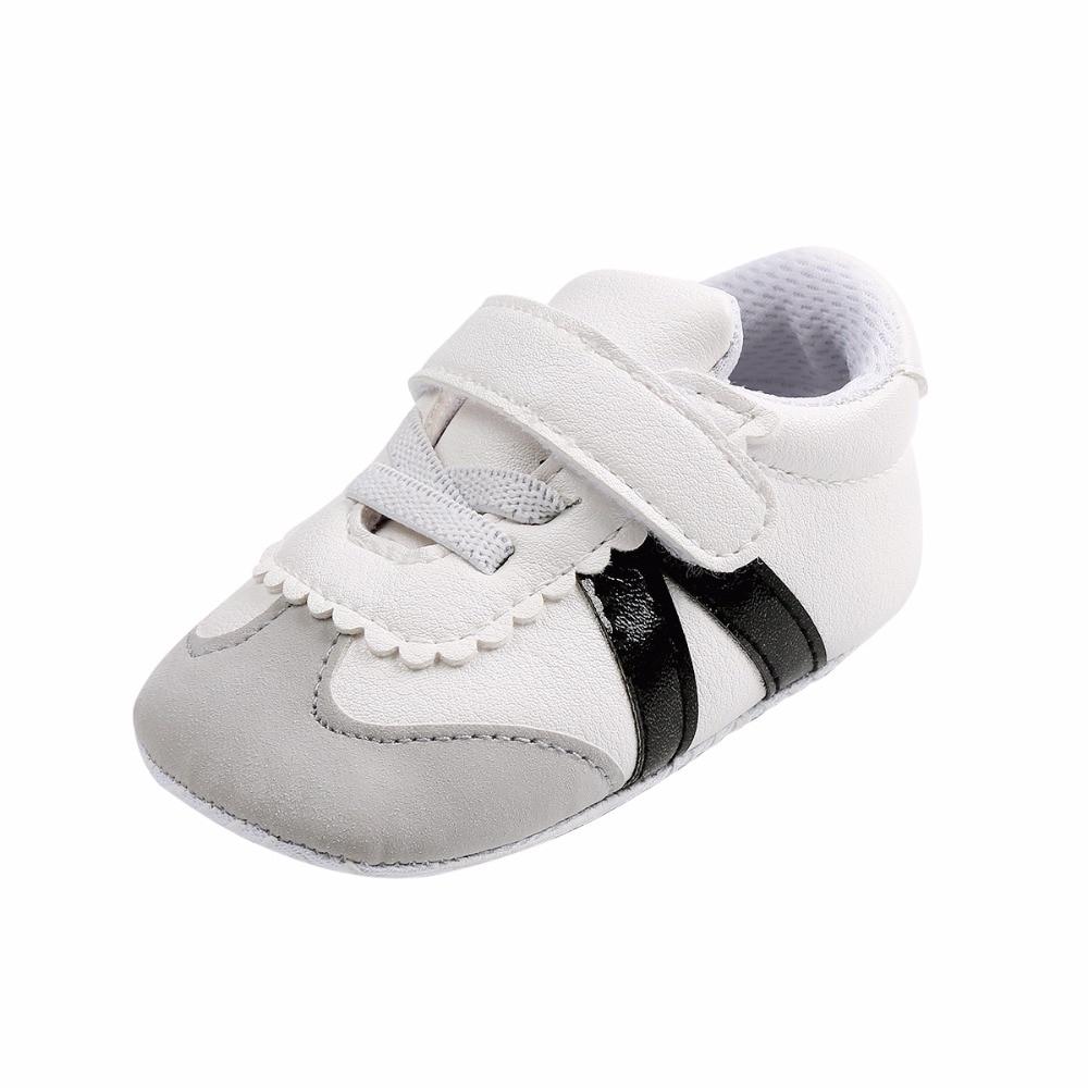 Baby Baby Boy Meisjes Schoenen PU-leer Gestreepte katoenen - Baby schoentjes - Foto 3