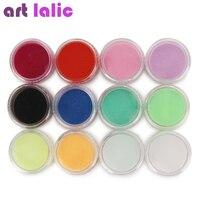 12 Colors Acrylic Powder Dust UV Gel Design 3D Tips Decoration Manicure Nail Art