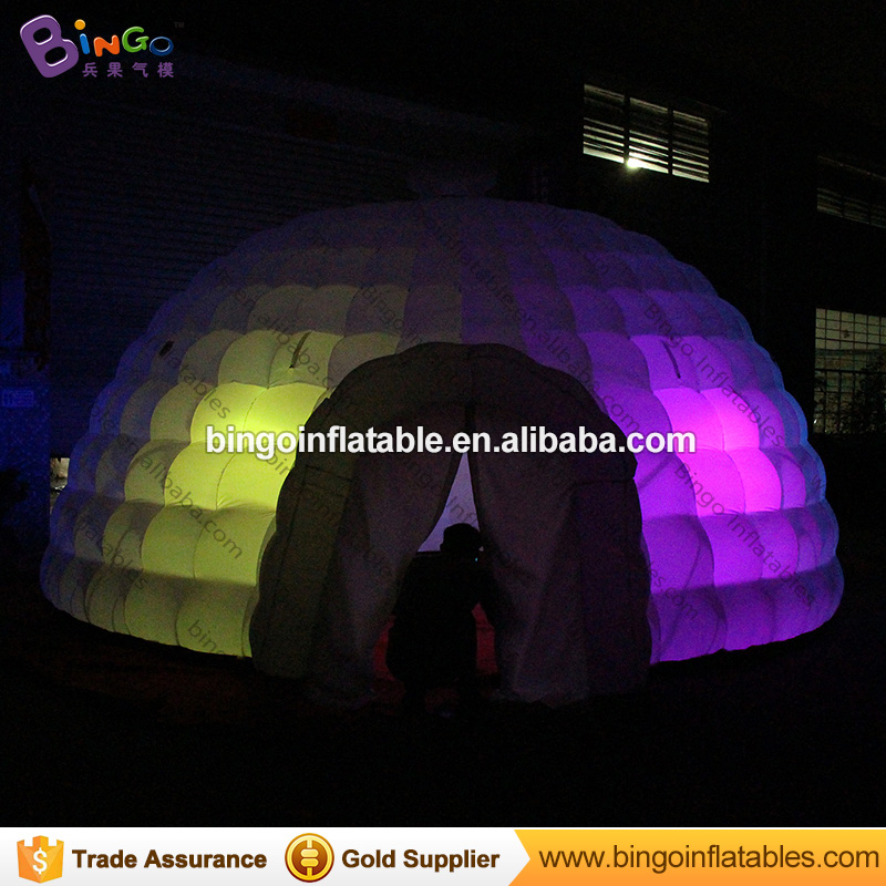 Free shipping 6X3m LED lighting inflatable dome tent for show durable inflatable igloo tent for wedding party toy tent yurt tent factory direct sale 6x6x3 5 m inflatable dome igloo tent for outdoor event high quality blow up all white yurt tent toy tent
