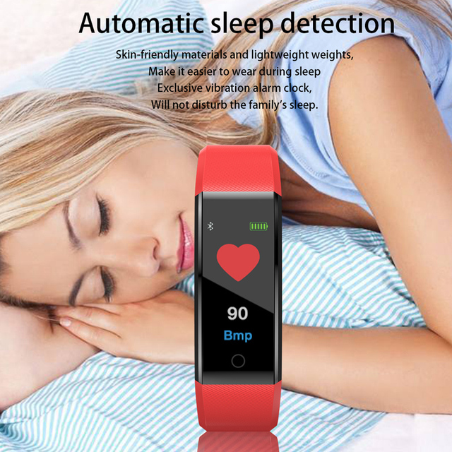 Smart Wrist Band Bracelet Fitness Heart Rate Blood Pressure Pedometer Sports Wristband Smart Watch Men Women For IOS Android