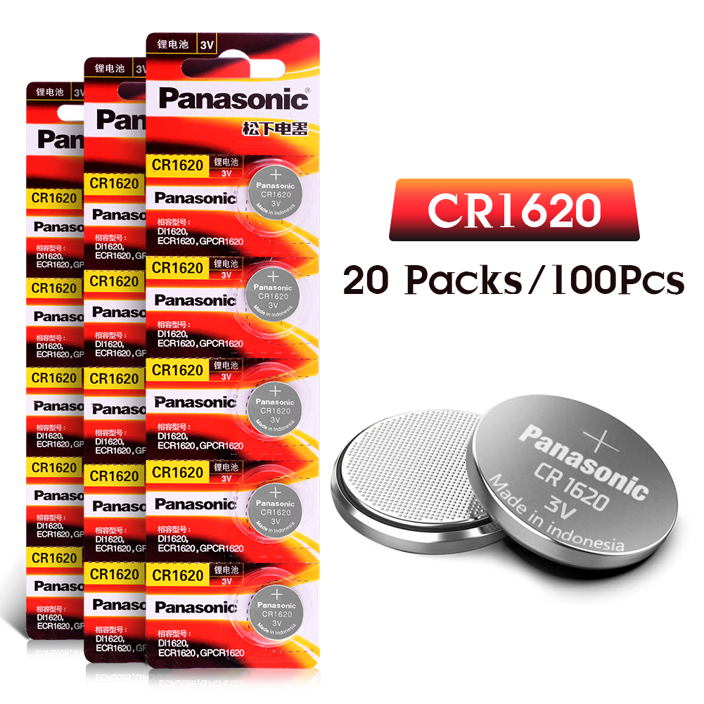 100 pc cr1620 3 v bouton batterie pile au lithium à pièces ECR1620 DL1620 5009LC KCR1620 BR1620 LM1620 pour ordinateur de montre