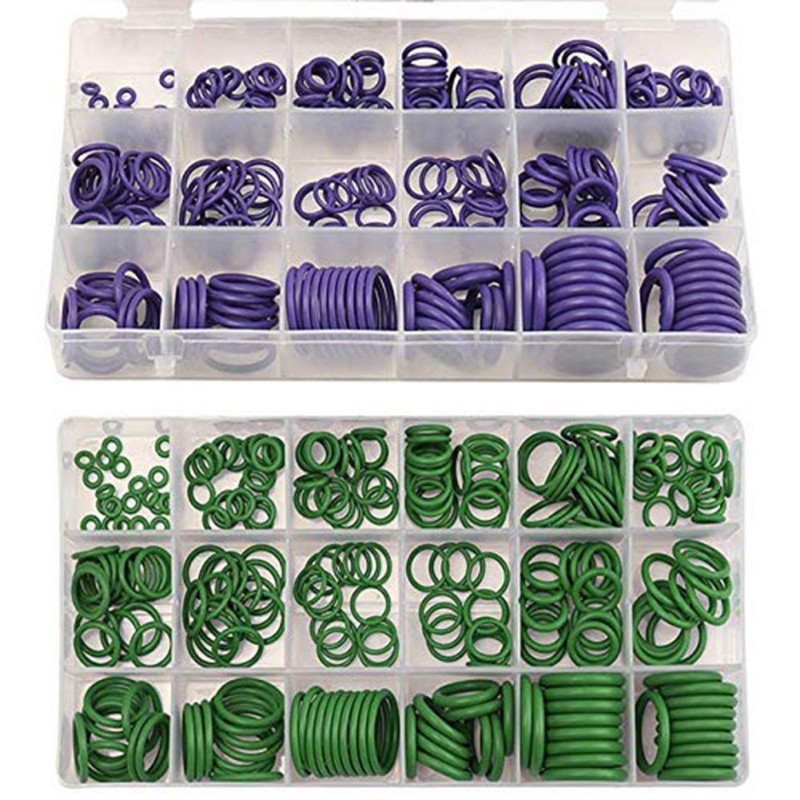 270pc Air Conditioning O-ring 18 Grid Sealing Rubber Gaskets Rubber Washer Assortment Standard Parts Seal O-ring Gaskets Sets270pc Air Conditioning O-ring 18 Grid Sealing Rubber Gaskets Rubber Washer Assortment Standard Parts Seal O-ring Gaskets Sets