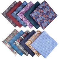 Paisley Floral Mens Pocket Square Silk Colorful Brand New Fashion Hanky Classic Wedding Handkerchief