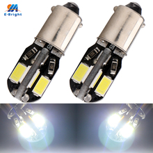 YM E-Bright 2PCS BA9S Led Canbus 5630 8 SMD T11 T4W Auto License Plate Light Car Interior Lighting 12V DC White NO Error 240Lm