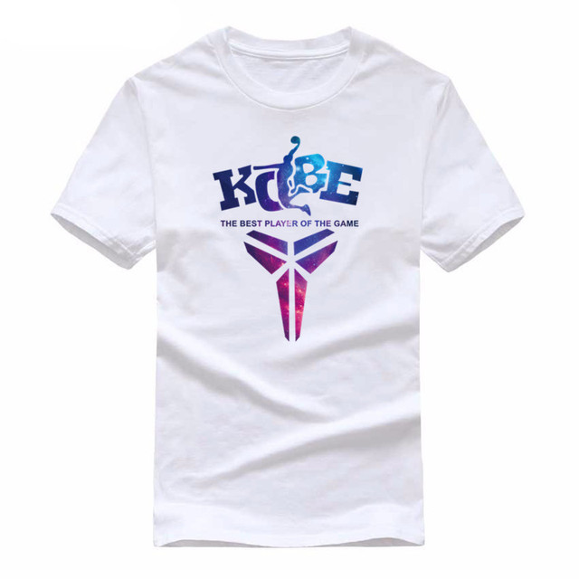 the best attitude 82f02 604da US $7.19 20% OFF|Aliexpress.com : Buy 2019 Tee Shirt Homme Summer Kobe  Bryant T Shirt Men Cotton Short Sleeve White T shirt Printed Fashion T  Shirts ...