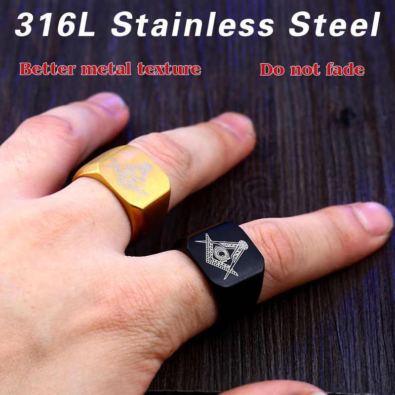 鋼兵士幾何学的なデザインステンレス鋼彫刻リングファッション流行のファッションシンプルなジュエリー