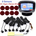 hot sale auto Car Parking sensor LCD display monitor 8 sensors Buzzer Backup Radar Detector Reverse Sound Alert 44 colors