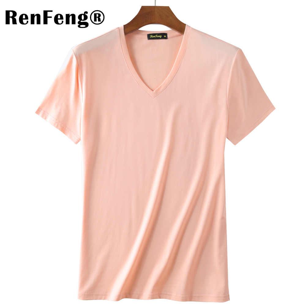Camiseta para Hombre a la moda 2019 ropa para Hombre Camiseta caleco Hombre de manga corta suave Modal Hombre Ropa interior tejida homm