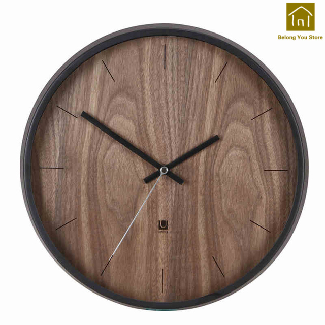 Wanduhr Glas Modern Solid Wood Wall Clock European Simple Watch Decorative