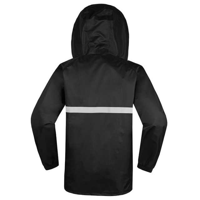 placeholder Men s women s Hi Vis Waterproof Rain suit rain Set black  rainwear rain coat waterproof reflective safety 7aed6b96c2