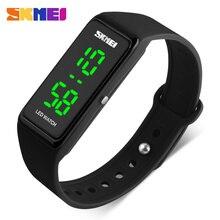 Skmei mujeres deportes relojes de mujer simple diseño llevó señoras reloj digital de pulsera 30 m resistente al agua relogio feminino 1265
