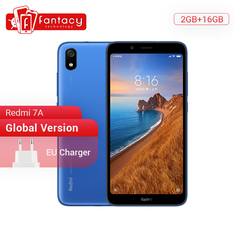 Version mondiale en Stock Xiaomi Redmi 7A 7 A 2GB 16GB 5.45 Snapdargon 439 Octa core téléphone portable 4000mAh 12MP caméra Smartphone