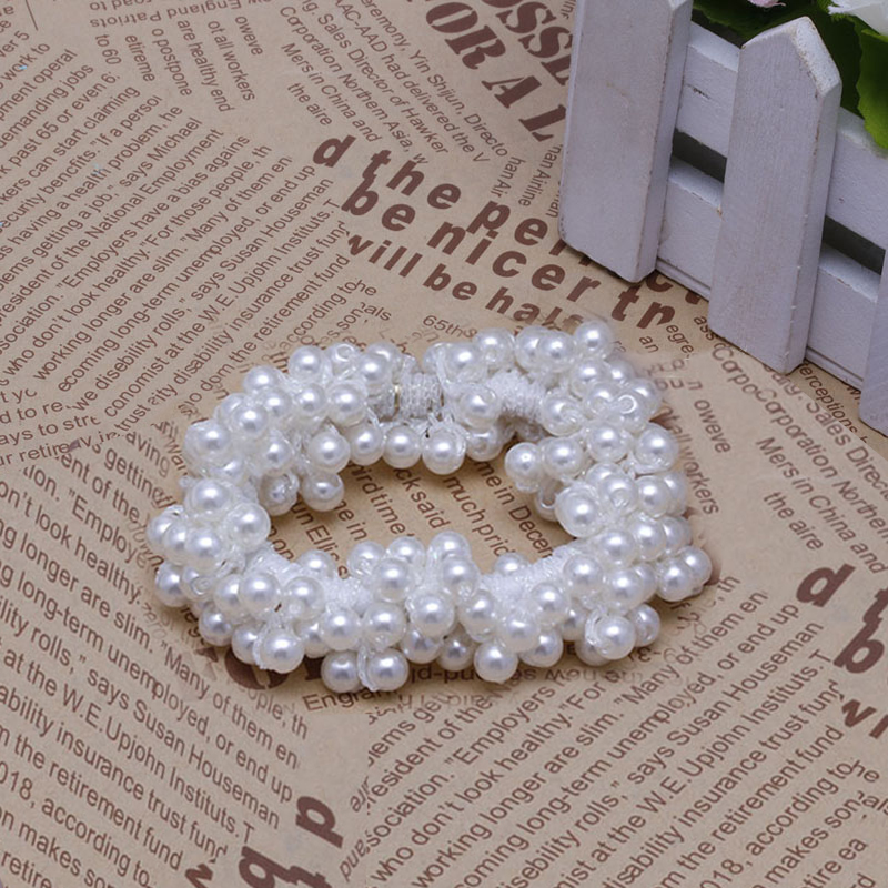 Hair Accessories Fake Pearls Ponytail Holder Girls Headdress Ropes Gift