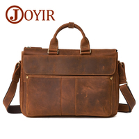 JOYIR Brand Men Briefcases Vintage Male Handbag Business Men Laptop Genuine Leather Men Crossbody Shoulder Bag