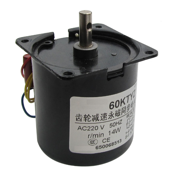 цена на 60KTYZ AC 220V 14W 100rpm forward low spped AC gear motor with gear box, Reversible Permanent magnet synchronous gear motor