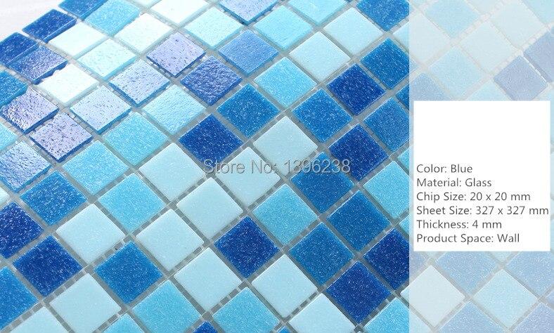 Navy blu piscina antiscivolo piastrelle di mosaico di vetro per la