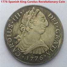 Darmowa wysyłka 5 sztuk/partia, 1776 SPAGNA MONETA/GETTONE SPAGNOLA CAROLUS III HISPAN stare monety ESPANE madryt