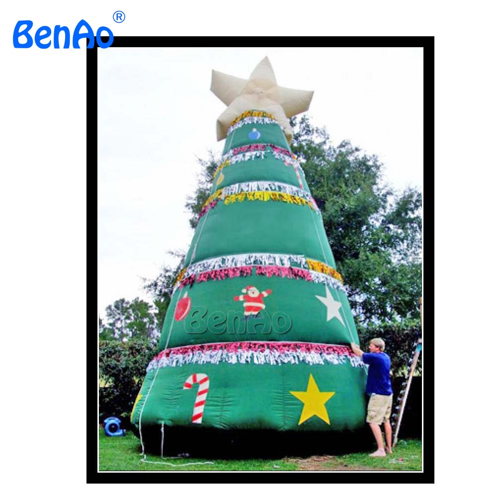 X027 7m High Inflatable Christmas Tree Inflatable Christmas Decorations For Sale