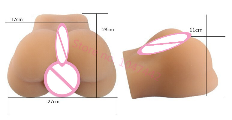 Fast shipping Sex testes full silicone male ass buttocks with real didymus for gay sex doll man homosexual male sex toys dolls.