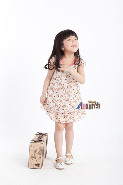 Free shipping!!Factory Direct! HOT SELLING! TOP QUALITY! Children's clothing fashion baby girls short-sleeved lace dress A1038
