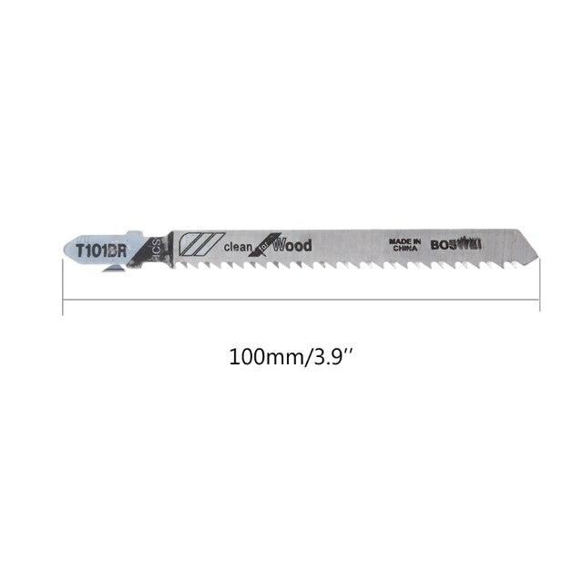 5 pièces/ensemble T101BR HCS 100mm lames de scie sauteuse propre pour bois laminé planche coupe