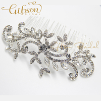 Free Shipping Vintage Rhinstone Bridal Hair Comb Wedding Headpiece