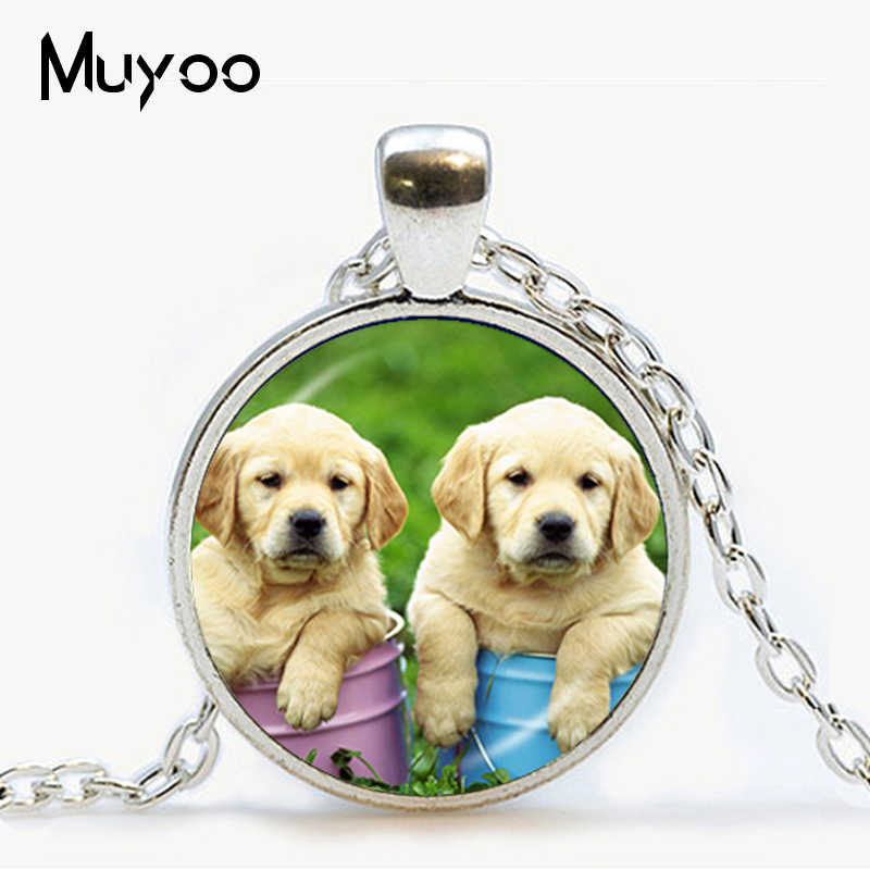 Pug necklace dog jewelry glass dome pendant cute puppy silver sweater chain statement neckless animal lover best gifts HZ1
