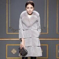 2018 New Women Brand Fur Coat Winter Warm Women Long Fur Coats Furry Luxury Womens Fake Fur Jacket High Quality Coat S0076