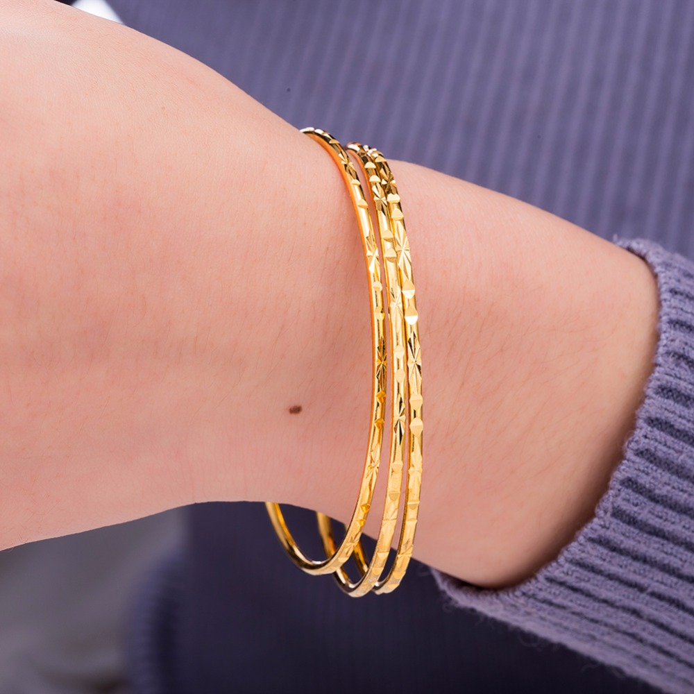 gold bell gift bangles circles chinese russian classic lucky girls product plated fashion for bracelet new boys baby bangle jewelry with words kids