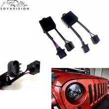 """Soyavision 7 """"車のledヘッドライトのためのH4 To H13ジープラングラーjkアンチフリッカーデコーダフィット任意H4 7"""" ラウンドledヘッドライト"""