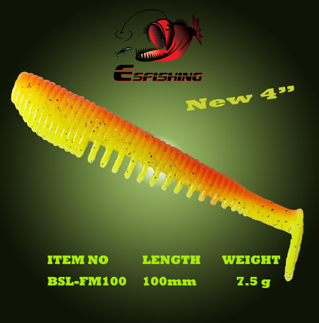 "Fishing Lure Soft Bait FLK Minnow 4"" Esfishing 6pcs 10cm/7.5g Swimbait Iscas Artificials Pesca Silicone Bait Carp Tackles"
