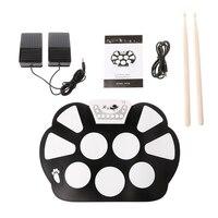 Roll Up Tragbare 9 Pad USB 9 Pad Musikinstrument E-drum Kit Werkzeug