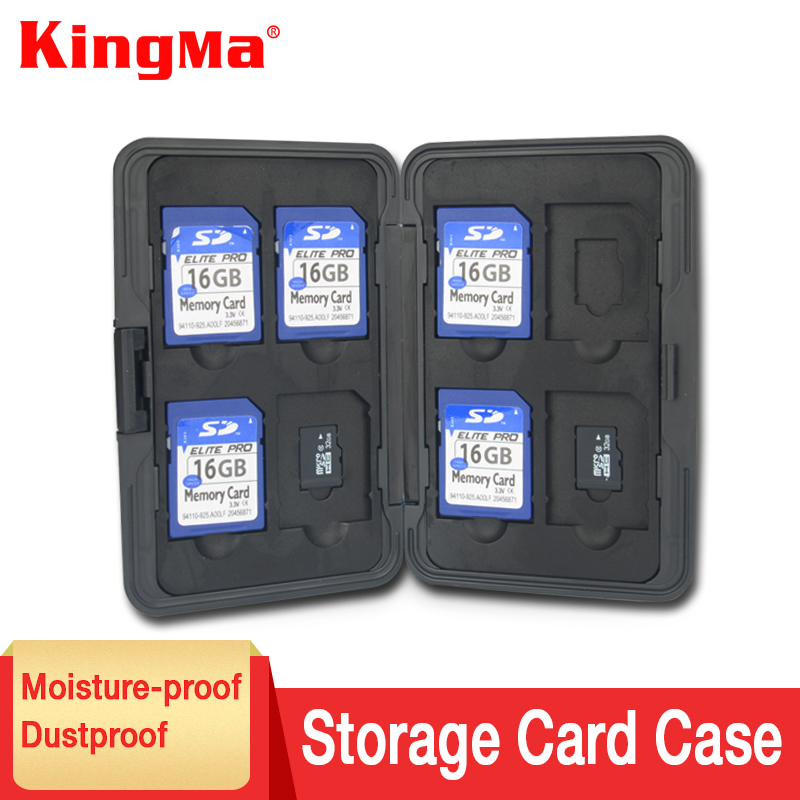KingMa Aluminium Alloy EVA Aluminum Micro For SD MMC TF Memory Card Storage Box Protecter Case