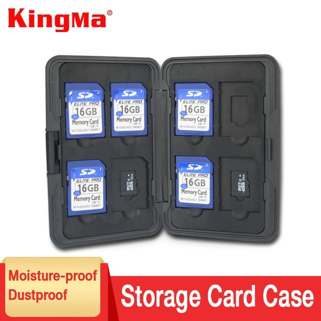 KingMa Aluminium Alloy EVA Aluminum Micro For SD MMC TF Memory Card Storage Box Protecter Case 8