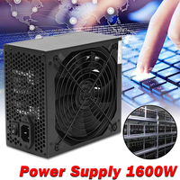 1600W Modular Power Supply For 6 GPU Eth Rig Ethereum Coin Mining Miner Machines High Quality Computer power Supply For BTC