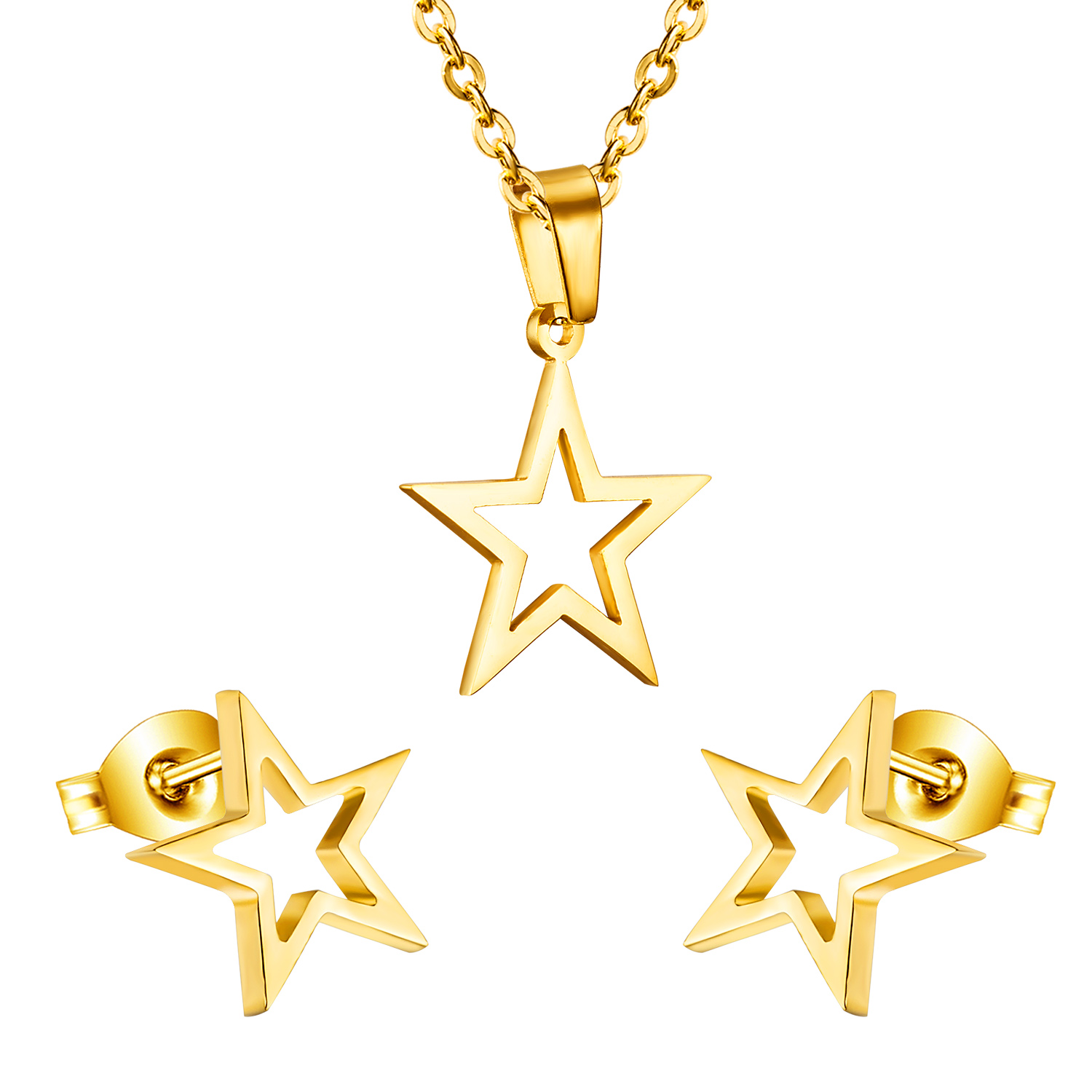 Modeschmuck gold set  Online Kaufen Großhandel star jewelry set aus China star jewelry ...