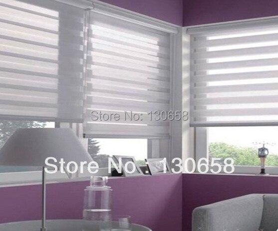 Window Blinds Zebra Roller Blinds Office Curtain For Living Room     Custom  Size