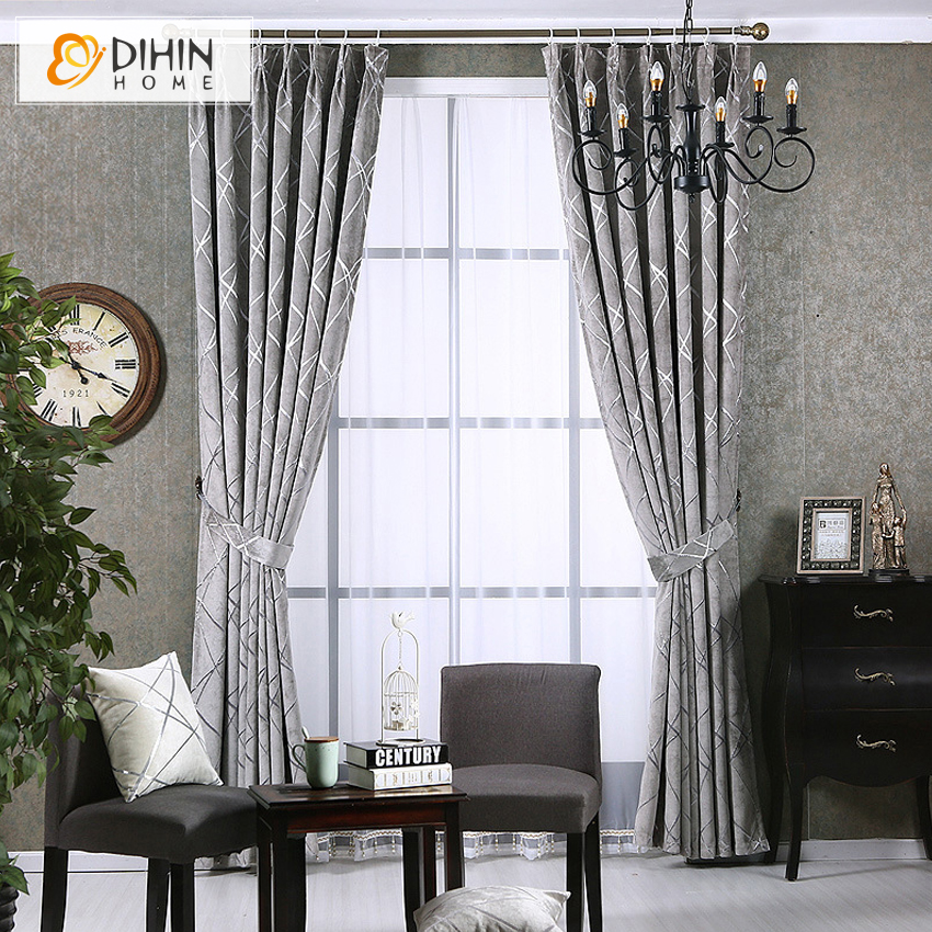 DIHIN 1 PC Modern High Quality Window Curtains For Living Room Blackout 3 Colors Treatment Drapes Home Decor In From Garden On