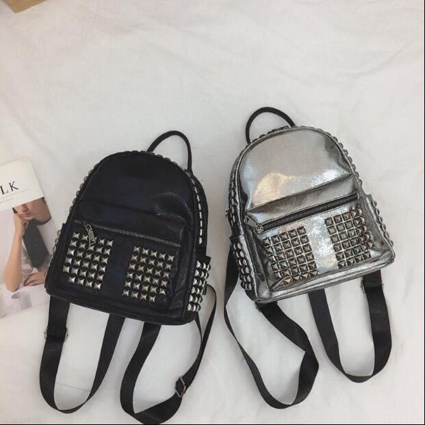Крутые модные заклепки Для женщин рюкзак Водонепроницаемый мини-рюкзак Дизайнер Высокое качество Обувь для девочек путешествия рюкзак сум...