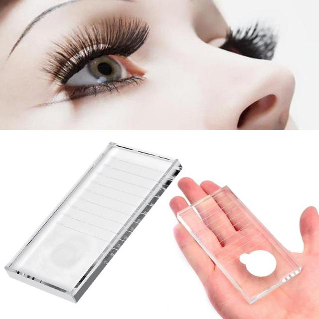 Acrylic Eyelash Extensions Length Separator Tool Professional Eye Lash Adhesive Glue Holder Pallet