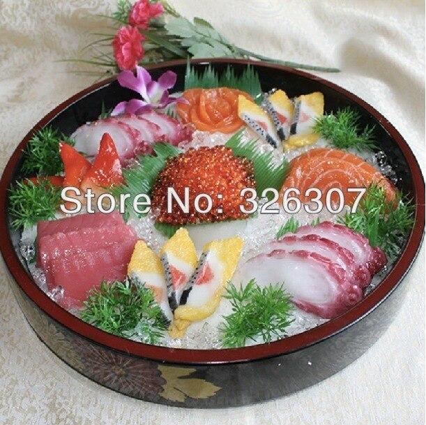 Муляж пищевых продуктов большой японский муляжи пищевых продуктов Модель глубокое блюдо sashimi ложный образец кухни посуда как в ресторане м...