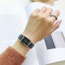 Модные женские винтажные кожаные часы с прямоугольным циферблатом, элегантные женские наручные часы, повседневные женские Ретро часы, часы с цифрами в римском стиле
