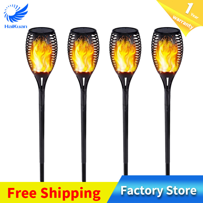 New 3 Mode Solar Flame Light Flame Breathing Bright 96 LED Outdoor Waterproof Landscape Torch Wall Lamp Garden Yard Lawn Light цена