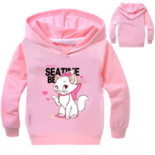 Z&Y 3-16Years Marie Cat Clothes Long Sleeves Hoodies for Girl Aristocats Sweatshirt Cute Baby Bomber Bobo Jacket NO7665