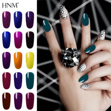HNM 8ML Nail Gel Pure Color Gel Nail Polish Varnish Base Top Coat Soak Off UV and LED Permanent Enamels Gellak Varnish Lacquer(China)