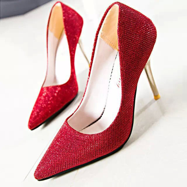 eb86892a0e2 US $25.23 |2015 Famous Brand Shoes Women Pumps Shoes High And Low Red Pumps  Shoes Heels Designer Sexy Wedges Women Ladies Girls Party Pumps-in Women's  ...