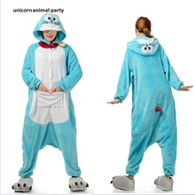 Cartoon animal conjoined Kigurums Unisex Doraemon Cat Onesie Pajamas Anime Costume Pyjamas Sleepwear Homewear onesies jumpsuits