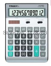 One Piece New Original Truly 901A Korean Office Dual Power Solar Calculator 12 Digits Ergonomic Calculator Thin Calculator